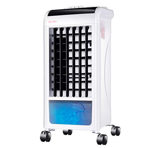 Ventilateur de climatisation multifonctions à double usage de refroidissement et de chauffage, chauffage de ventilateur de tour de ventilateur électrique mobile domestique (Color : White)
