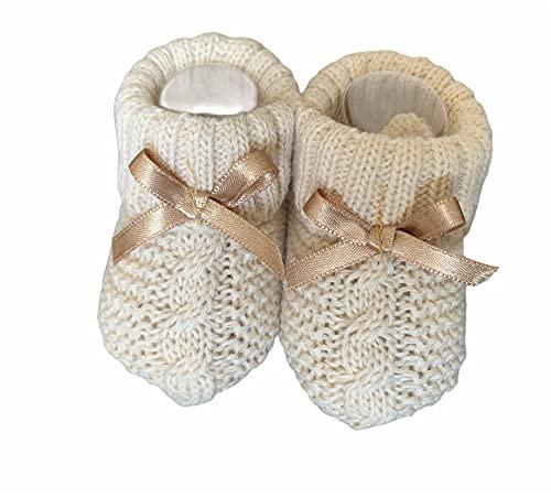 Socken für Babys, Mädchen, 0-6 Monate, geflochten, in Geschenkbox, Socken mit Schleife für Neugeborene, Mädchen