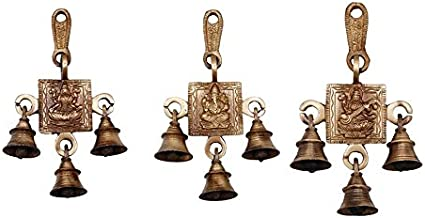 Aakrati Set of Laxmi Ganesha Saraswati Single Hanging Bells