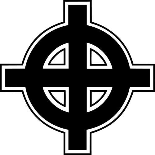 Ranger Products Celtic Cross Vinyl Decal Car Window Wall Laptop Sticker, Die Cut Vinyl Decal for Windows, Cars, Trucks, Tool Boxes, laptops, MacBook - virtually Any Hard, Smooth Surface