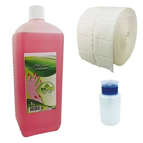 JaTop Nailcleaner 1000ml - Spezial Nagel-Reiniger für die Nagelmodellage - Schnell & Einfach Nägel reinigen - Leicht reinigen & entfetten - Schwitzschicht-Entferner - Beste Qualität