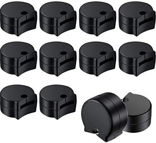 12 Piezas de Protector de Pulgar de Clarinete de Goma Descanso de Dedos de Clarinete para la Mayoría de Clarinetes, Negro