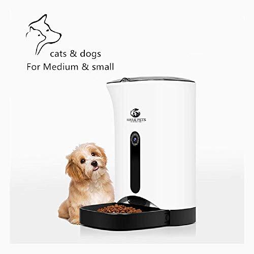 DOOK Automatische voederautomaat met timer – 4,3 l voederdispenser met tot 4 maaltijden per dag en akoestische melding – voor hond en kat