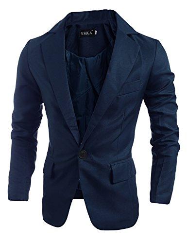 Letuwj Blazer masculino casual com um botão para homens, Azul marinho, Aisa XXL(US XL)