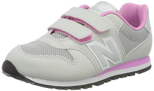 New Balance 500, Zapatillas para Niñas, Gris (Grey/Pink Ri), 35 EU