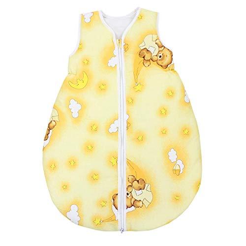 TupTam Unisex Baby Schlafsack ohne Ärmel Wattiert, Farbe: Bärchen Mond Beige, Größe: 80-86