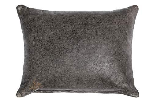 Centaur - Cojines de Cuero Decorativos para el sofá o el Dormitorio 50 x 40cm Gris basalto - Cojines de Cuero Genuino Cojín de sofá de Cuero Genuino Look