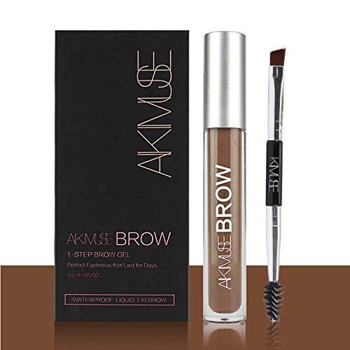 ROMANTIC BEAR Wasserfest Augenbrauen Farben Gel Mit Pinsel Set,Anti-discoloration Eyebrow Gel,AUBURN