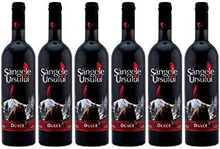Crama Ceptura | Sangele Ursului – Rotwein süß aus Rumänien | Weinpaket 6 x 0.75 L  1 KugelschreiberAmigo Spirits gratis