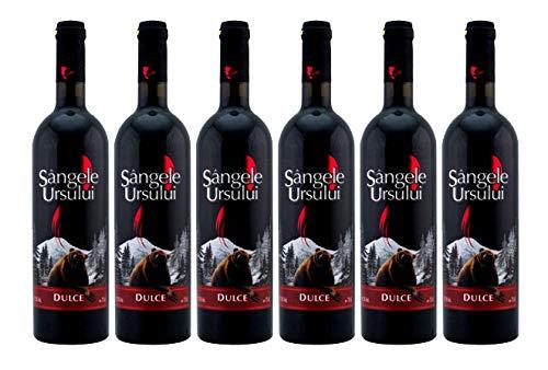 Crama Ceptura | Sangele Ursului – Rotwein süß aus Rumänien | Weinpaket 6 x 0.75 L + 1 Kugelschreiber
