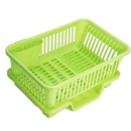 SHYPT Plastic Dish Rack, Drainer & Drainboard Separate cutlery holders Drain hole flatware holder Bottom tray Robust Easy to clean