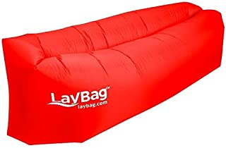 LayBag Inflatable Air Lounge, Ruby Red [並行輸入品]