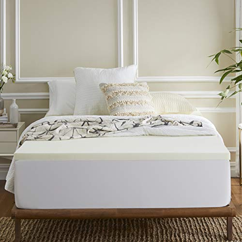 Sleep Innovations 2-inch Memory Foam Mattress Topper, Twin XL, Made in the USA