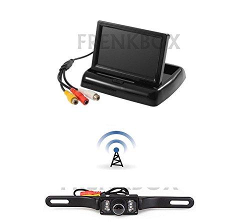 Frenkbox Kit retromarcia Auto Monitor 4,3 RICHIUDIBILE Telecamera Wireless Senza Fili