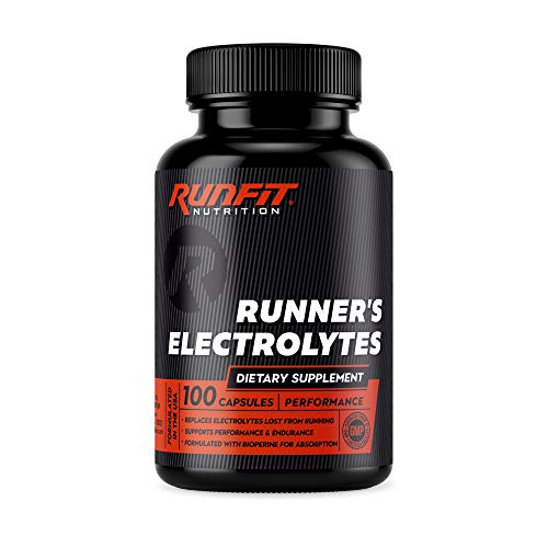 Runner's Electrolytes - Stop Cramps Now - Boosts Endurance & Stops Muscle Fatigue - Salt Electrolyte Pills - Boosts Hydration - Replenishes Exact Electrolytes Lost While Running - 100 Capsules