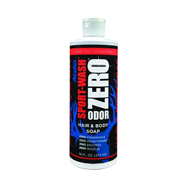 Atsko 1345BZ Zero Sport Wash Hair & Body Soap 16 fl oz
