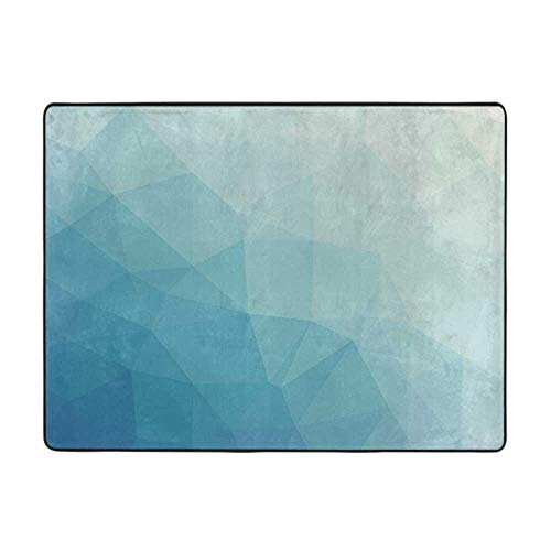 Modern Toilet Carpet Rug Non-Slip Floor Mat Teal and White Office Chair mat for Carpet Blue Pale Blue 4'x6'