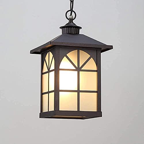 Accesorios de iluminación de suspensión Al aire libre Impermeable IP54 Luces colgantes de techo E27 Luz alta Patio Paisaje Candelabros de techo Cadena Lámparas colgantes ajustables para terraza de pa