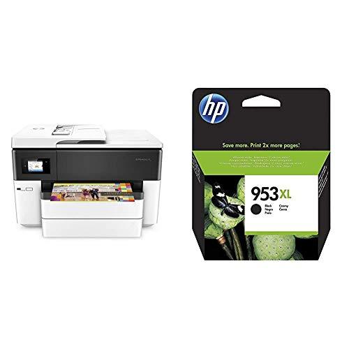 HP OfficeJet Pro 7740 (G5J38A) Stampante Multifunzione a Getto di Inchiostro per Grandi Formati A3 & 953XL Cartuccia Originale Getto d'Inchiostro ad Alta Capacità, Nero