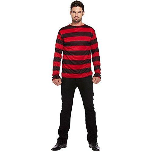 Henbrandt Black & Red Striped Jumper One Size Hb U36245