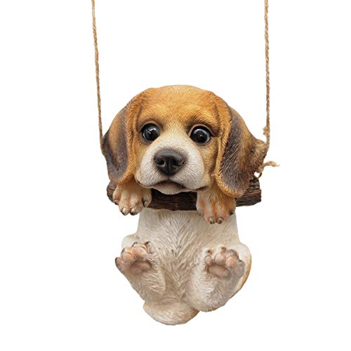 CITONG Skulptur Hund Figur Ornament Home Office Dekoration lustiges Geschenk, Beagle Pup