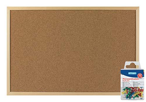 Stylex 2051365 Pinnwand, 40 cm x 60 cm (+ Pinnwandnadeln)