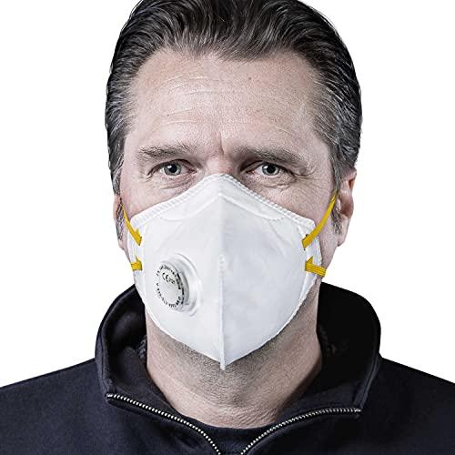 SolidWork 3er Set FFP3 Fold Flat Atemschutzmasken | Masken für Mund- und Nasenschutz | Einzeln verpackte Schutzmasken | Feinstaubmaske, Staubschutzmaske, Staubmaske