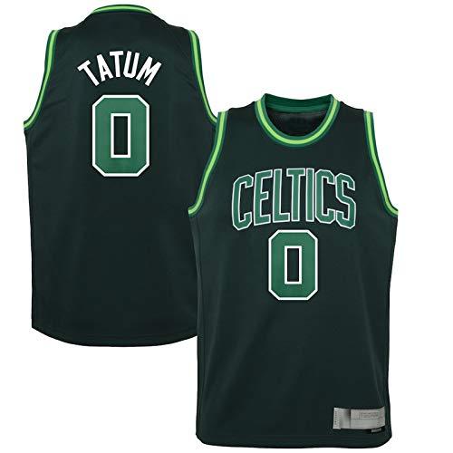 FUTIN Camiseta de baloncesto Jayson Tatum Away Boston Jersey Celtics Kids 2020/21 temporada de malla transpirable # 0 verde - Edición ganada