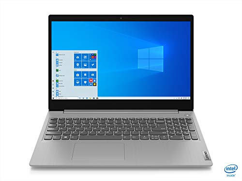 Lenovo IdeaPad 3 - Portátil 15.6' FullHD (Intel Core i5-1035G1, 12GB RAM, 256GB SSD, Intel UHD Graphics, Windows 10 Home), Color gris - Teclado QWERTY Español