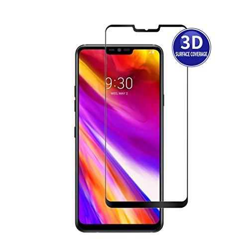 X-Dision LG G7 (Schwarz) 3D Schutzfolie Vollbildschutz Premium HD-Komplettabdeckung 9H Festigkeitn von Glasschutz Anti-Fingerabdruck & Anti-Shatter