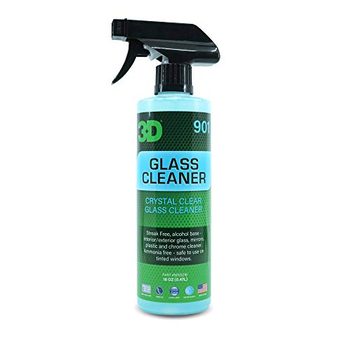 3D Glass Cleaner - Alcohol Based & Ammonia Free Tint Safe, Streak Free Glass Cleaner 16oz.