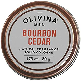 Olivina Men Natural Fragrance Cologne, Bourbon Cedar