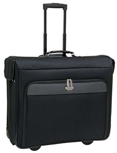 44' Wheeled Garment Bag with Premium Fully-Lined Interior, Separate Shoe and Accessory Pockets, and Heavy Duty Hanging Hooks