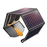 Cargador de Panel Solar, 22W Doble USB portátil Panel Solar Cargador de teléfono Inteligente, Resistente al Agua para teléfono Inteligente, cámara, Tableta portátil, Camping, Senderismo
