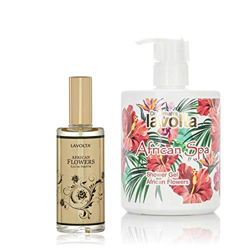 LaVolta Shea African Spa Shower Gel African Flowers 500ml + Gratis Eau de Parfum African Flowers 100ml
