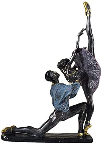 Pareja Bailarina Carácter Escultura Ornamento Resina Hogar Artesanía Oficina Sala De Estar Gabinete Vino Estudio Escritorio Porche 30x19x47cm MUMUJIN