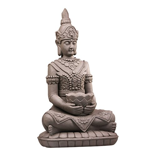 Stone-Lite Drop 683 Bouddha Kwan Yin avec Panier Mail-Order Emballage Statue, Gris, 36 x 26 x 66 cm
