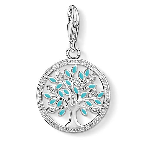 Thomas Sabo Damen Charm-Anhänger Tree of Love Türkis 925 Sterling Silber 1469-041-17