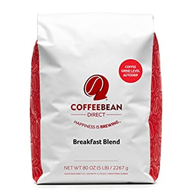 Coffee Bean Direct Breakfast Blend, Ground Coffee, 5-Pound Bag