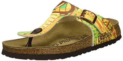 Papillio Damen Gizeh Birko-Flor Zehentrenner, Mehrfarbig (African Wax Gold), 36 EU
