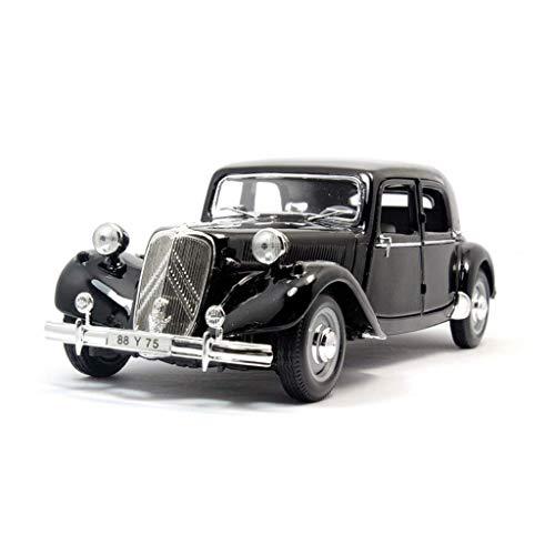 1952 Citroen 15CV Original Simulation Alu Automodell, Verhältnis 1:18, Statischer Druckguss, Miniaturmodell, Fertigmodell, Spielzeugauto, Tür und Motorhaube Können Geöffnet Werden, Geschenk
