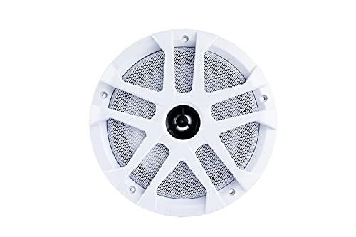 """Memphis MXA80L 8"""" 60W RMS 2-Way Marine Grade Construction Coaxial Speakers with RGB LED"""