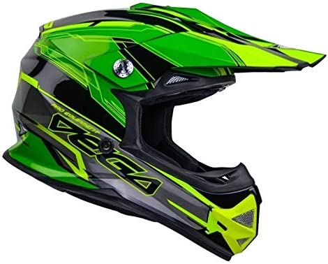 Vega Helmet Unisex Adult Full Face 36099 202 Mighty X2 Youth Off Road Helmet Green Stinger Small product image