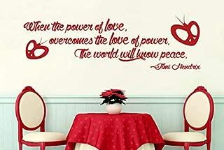 N.SunForest Jimi Hendrix Love Overcome Power World Peace Vinyl Wall Decor Stencils Murals
