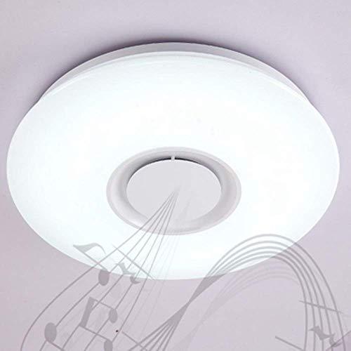 Ancnan Smart Bluetooth Music Lámpara de Techo Teléfono móvil Control Remoto LED Dormitorio Redondo Iluminación de la habitación de los niños