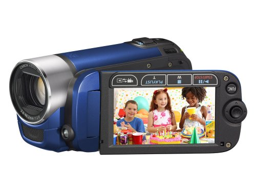 Canon LEGRIA FS 306 DVC-Camcorder (SDHC-Slot, 41-fach Advanced Zoom, 6,7cm (2,7 Zoll) Widescreen Display) blau