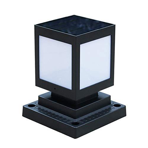 Ailtb PAC despu/és solar al aire libre luces LED a prueba de agua luces solares de la cerca de la l/ámpara esf/érica de acr/ílico Columna de la calzada Camino del jard/ín Camino de entrada Patio Patio Cerc