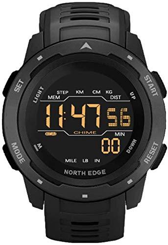 JSL Reloj deportivo para hombre de 50 m, resistente al agua, con cronómetro, calorías, LED, multifunción, analógico, para correr, buceo, reloj de pulsera