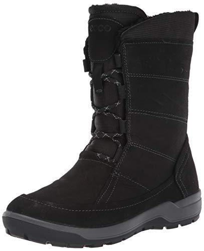 ECCO Women's Trace Lite Hydromax Water-Resistant Winter Snow Boot, Black Nubuck, 38 M EU (7-7.5 US)