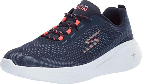 Skechers Women's GO Run FAST-15106 Sneaker, Navy/Coral, 10 M US